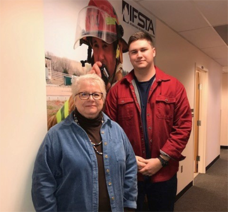 Fire Protection Student and Cindy